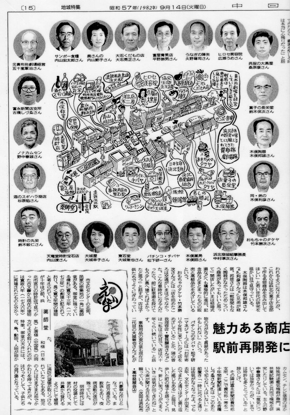 1982年中日新聞わが町「旧浜北市貴布祢二俣街道記事」左側
